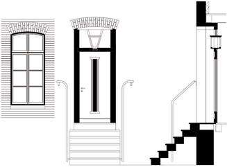 Eingangstür detail schnitt  Panorama Design